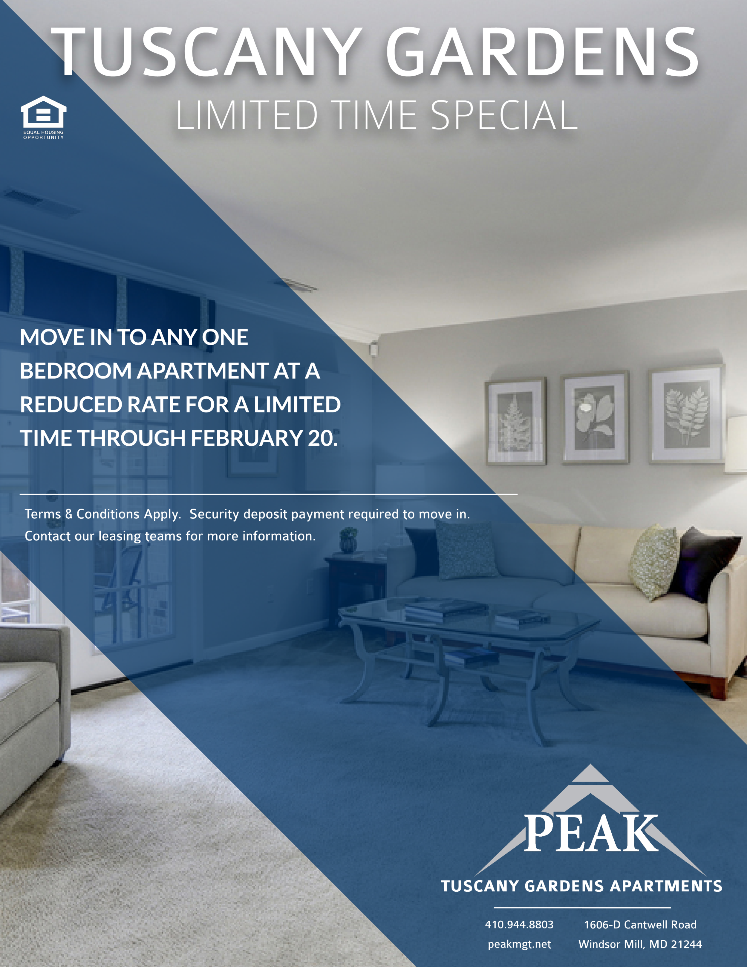 Tuscany Gardens Apartments in Windsor Mill, MD 21244 - February 2018 Rent Special