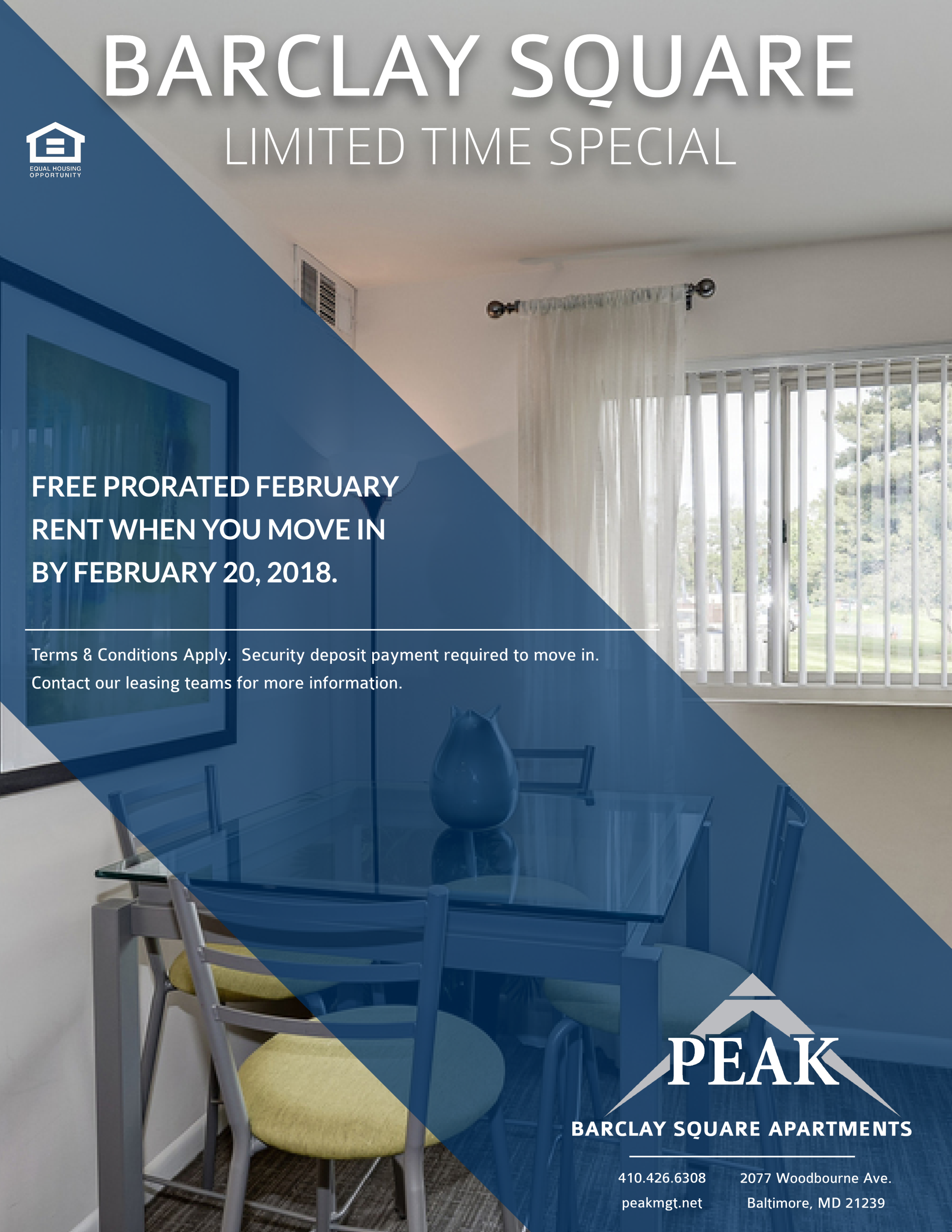 Barclay Square Apartments in Baltimore, MD February Rent Promotion