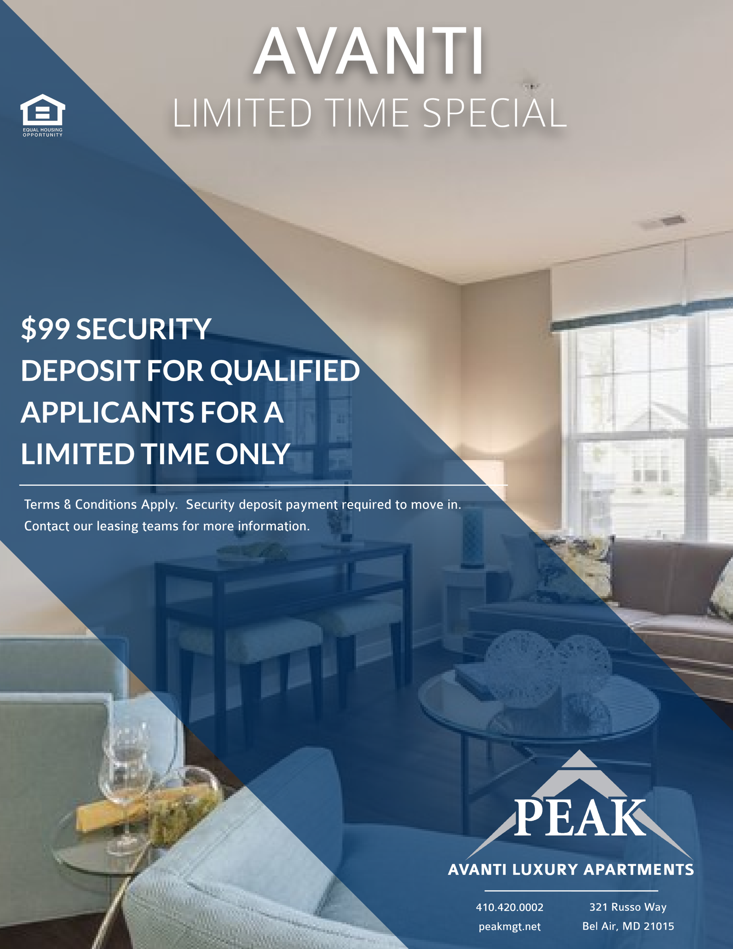 Avanti Luxury Apartments in Bel Air, MD February Rent Promotion