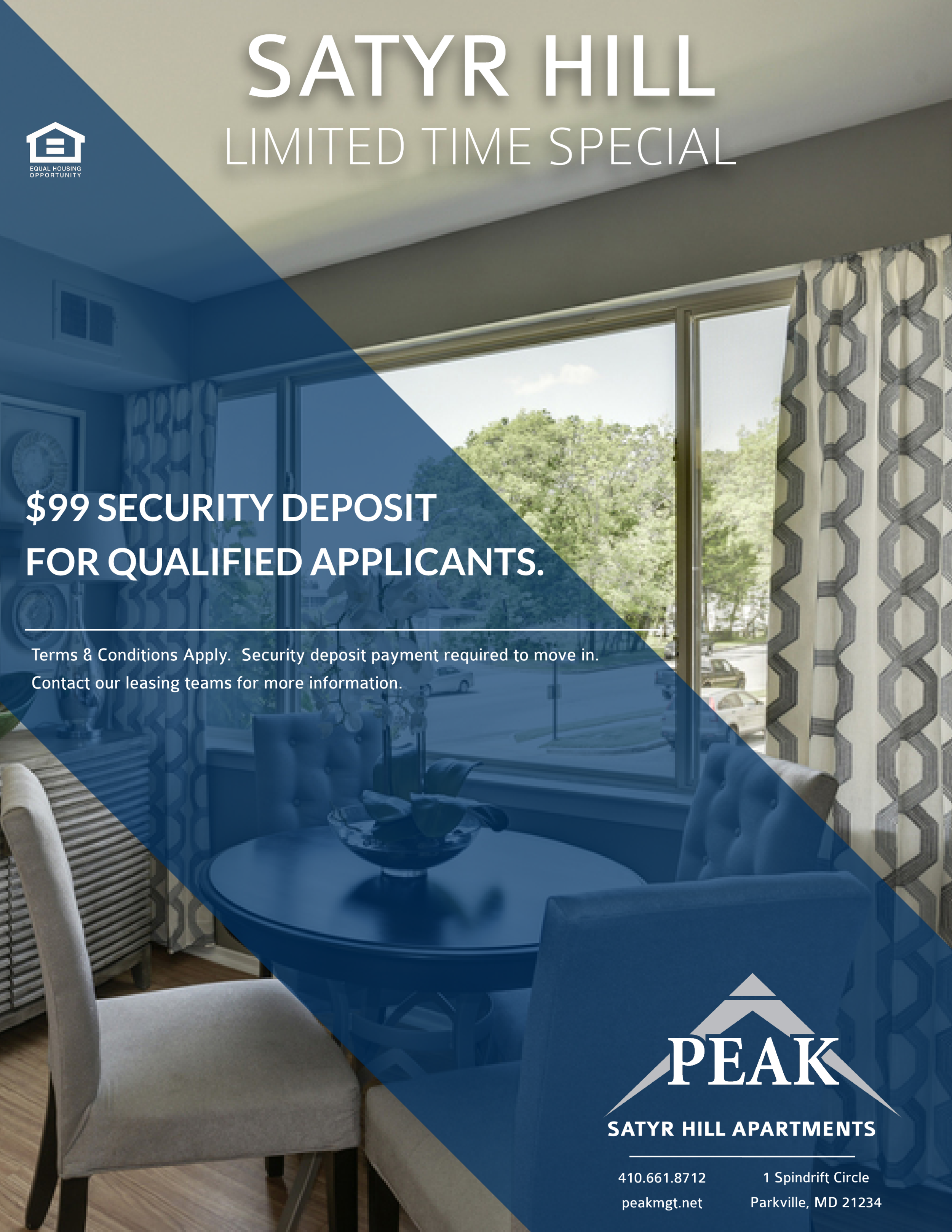 Satyr Hill Apartments February Rent Promotion