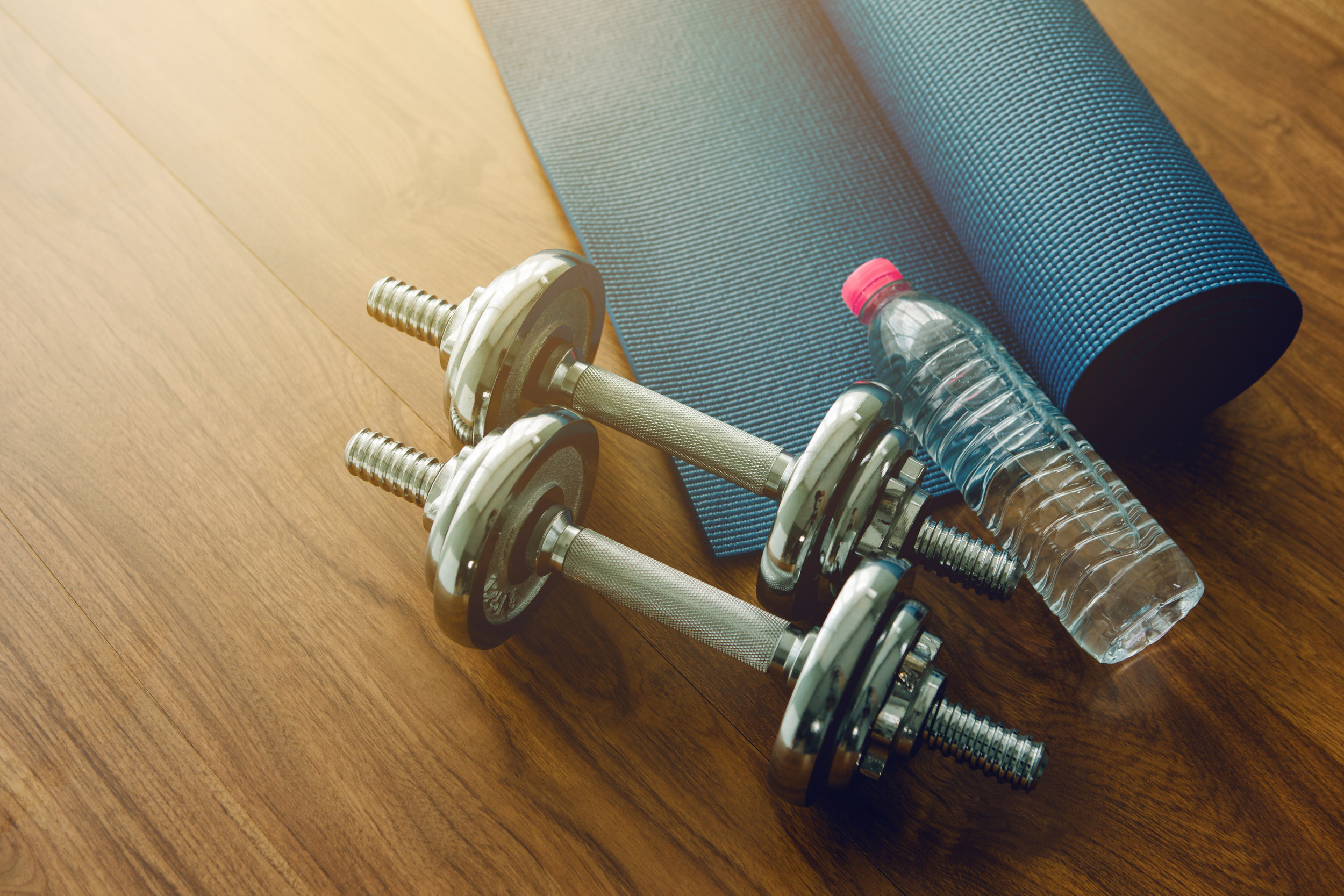 Workout at Home with these Streaming Services: Photo of Home Workout Equipment