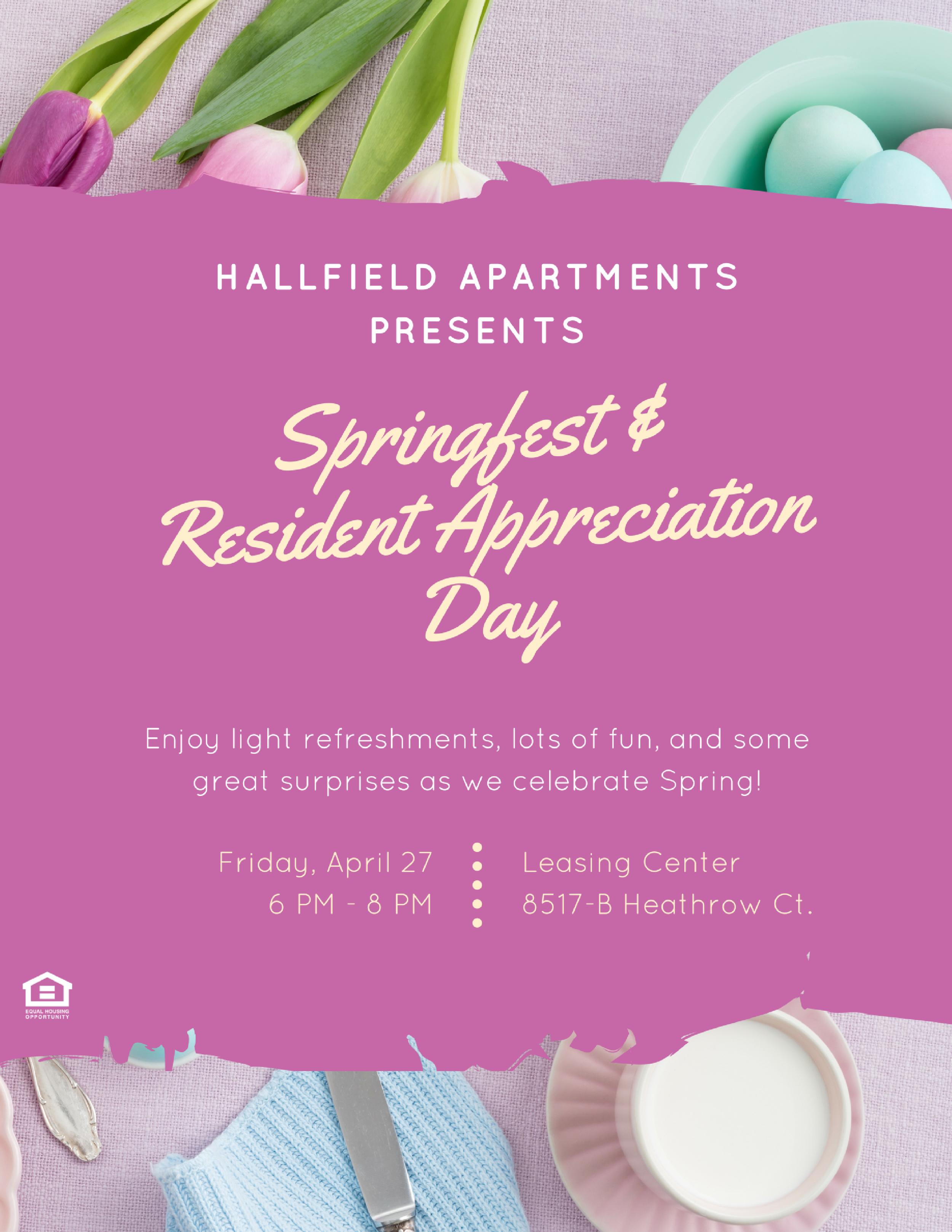 Hallfield Apartments Springfest & Resident Appreciation