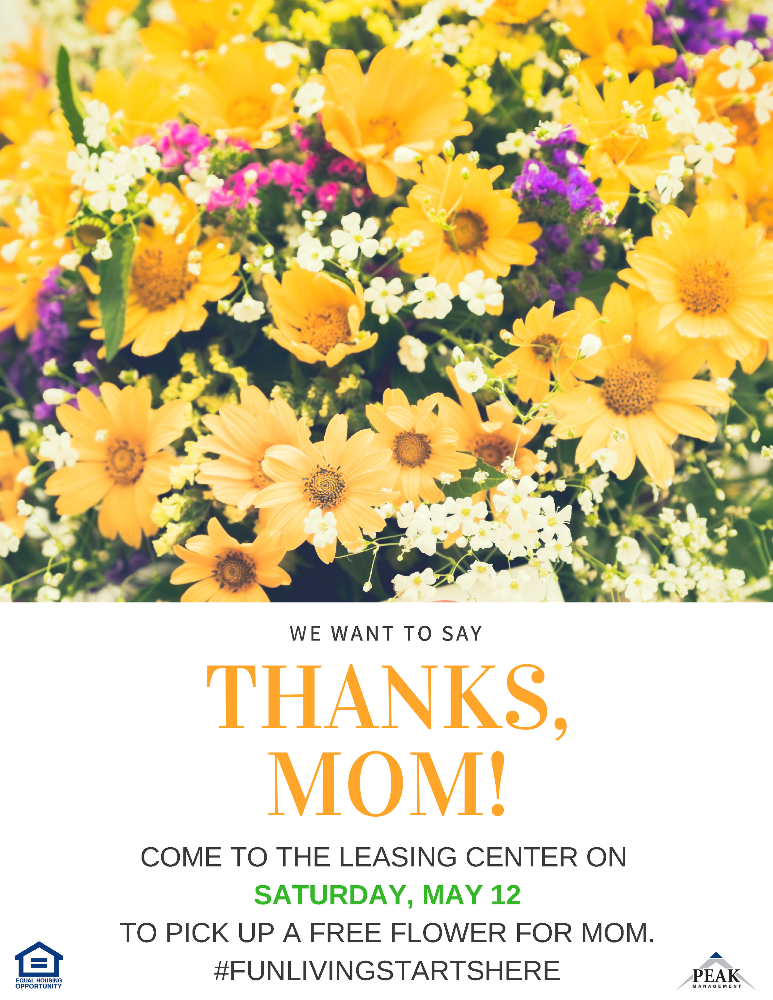 Barclay Square Apartments in Baltimore Mother's Day Flower Giveaway