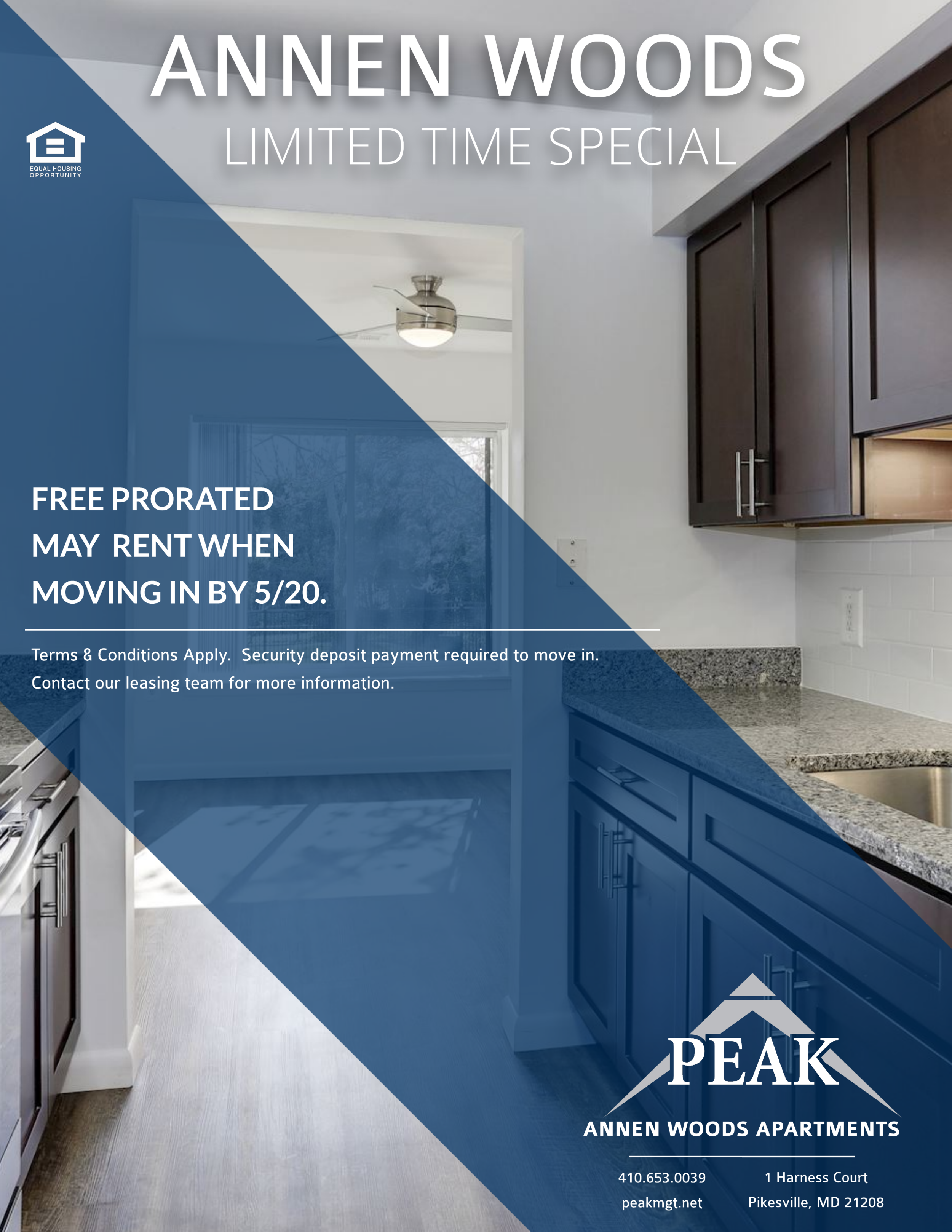 Annen Woods Apartments in Pikesville May Rent Special