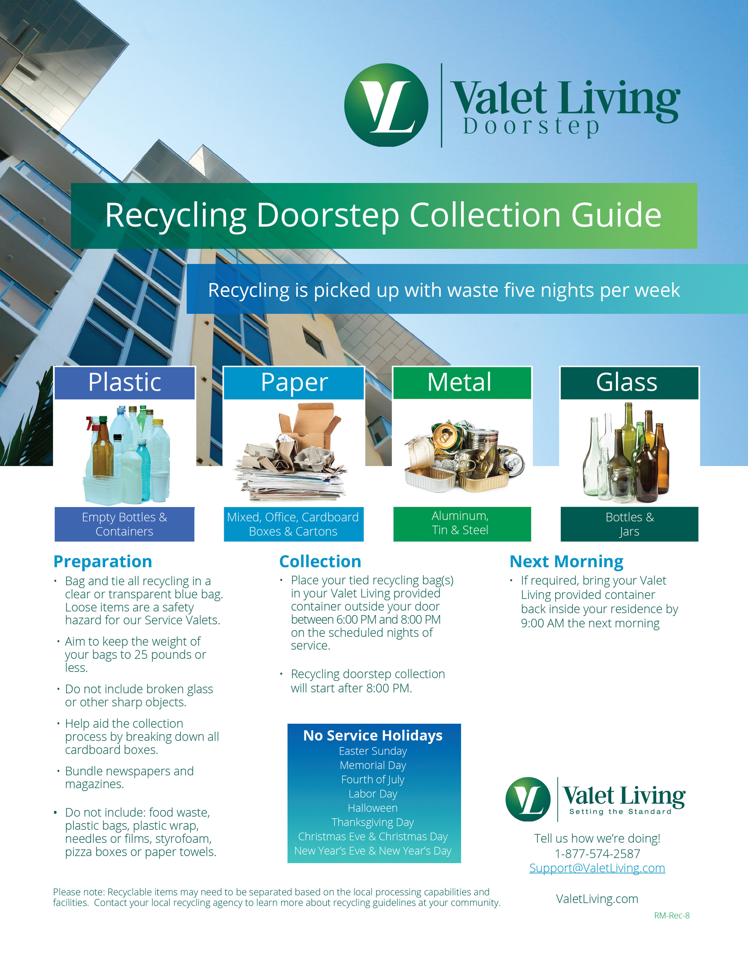 Valet Living Recycling Guide