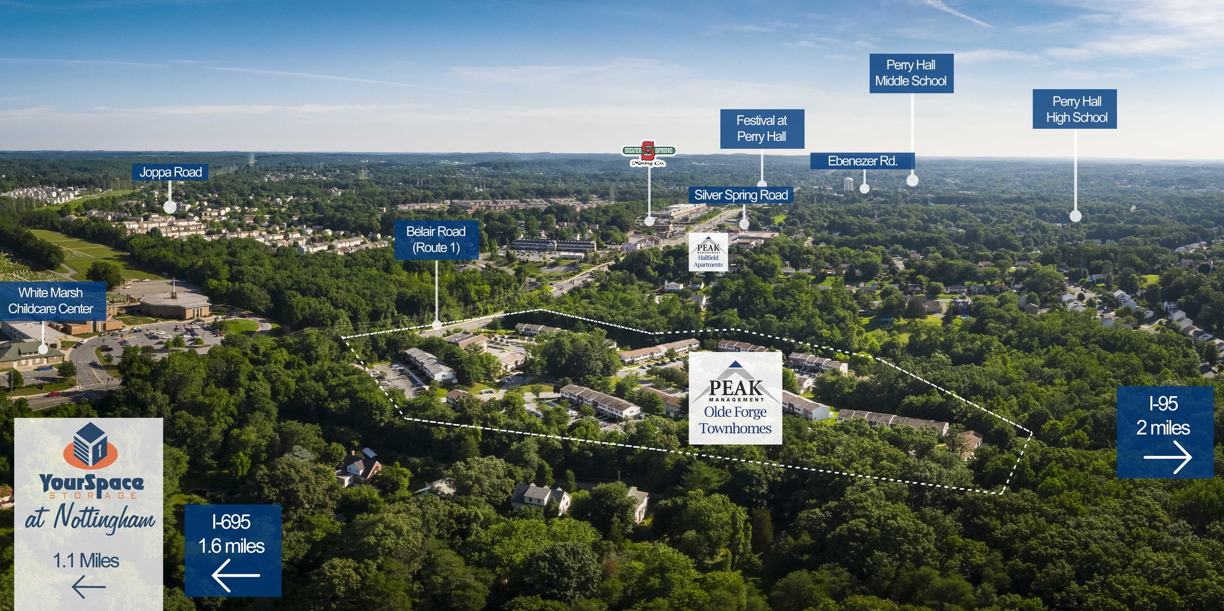 Olde Forge Rental Townhomes in Perry Hall, MD Area Map