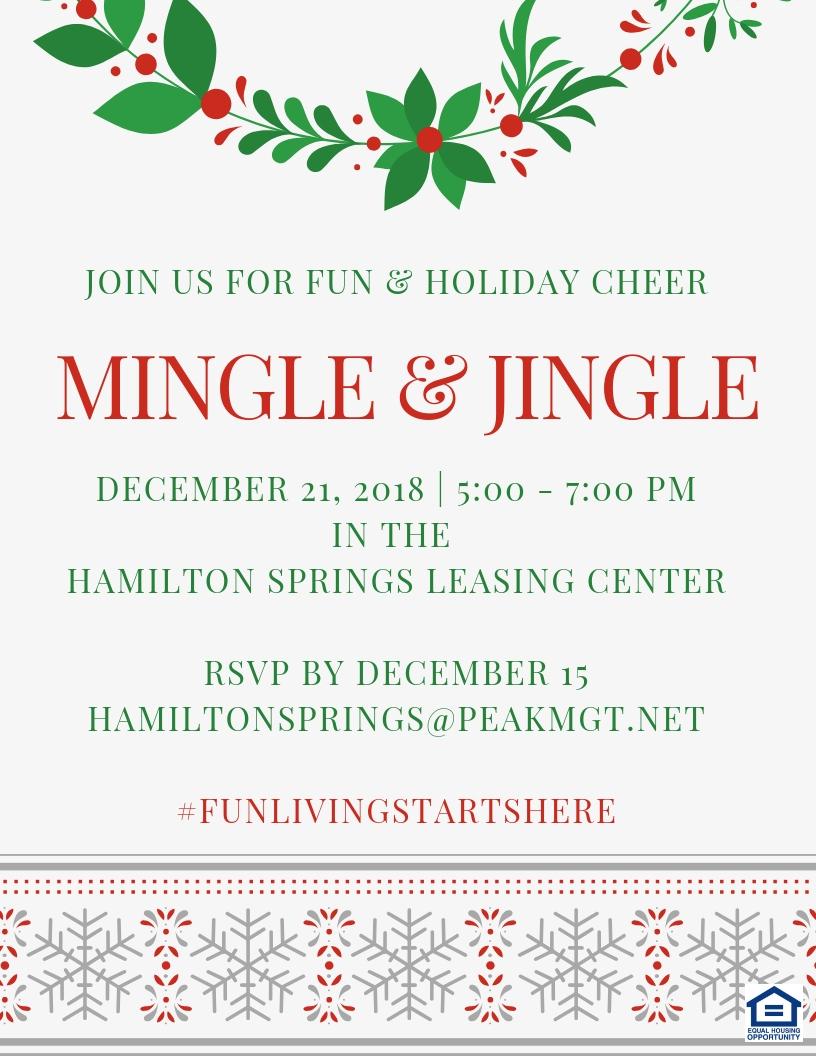 Mingle & Jingle at Hamiton Springs Apartments