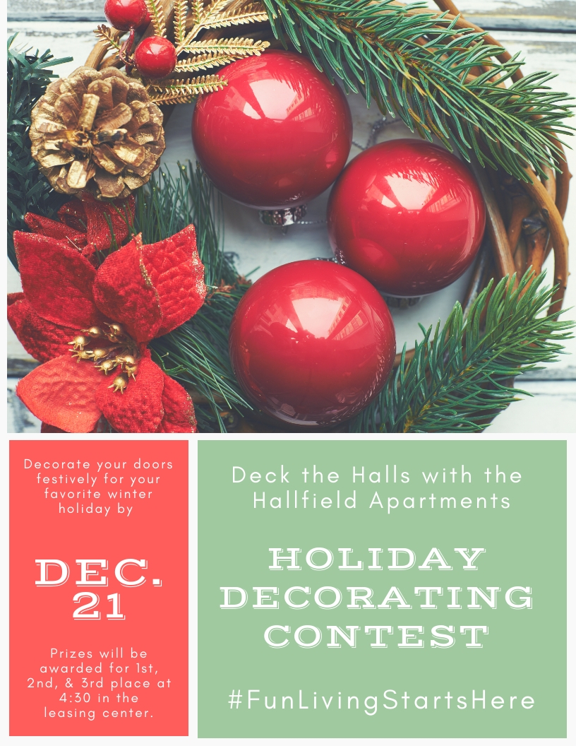 Hallfield Apartments Holiday Door Decorating Contest