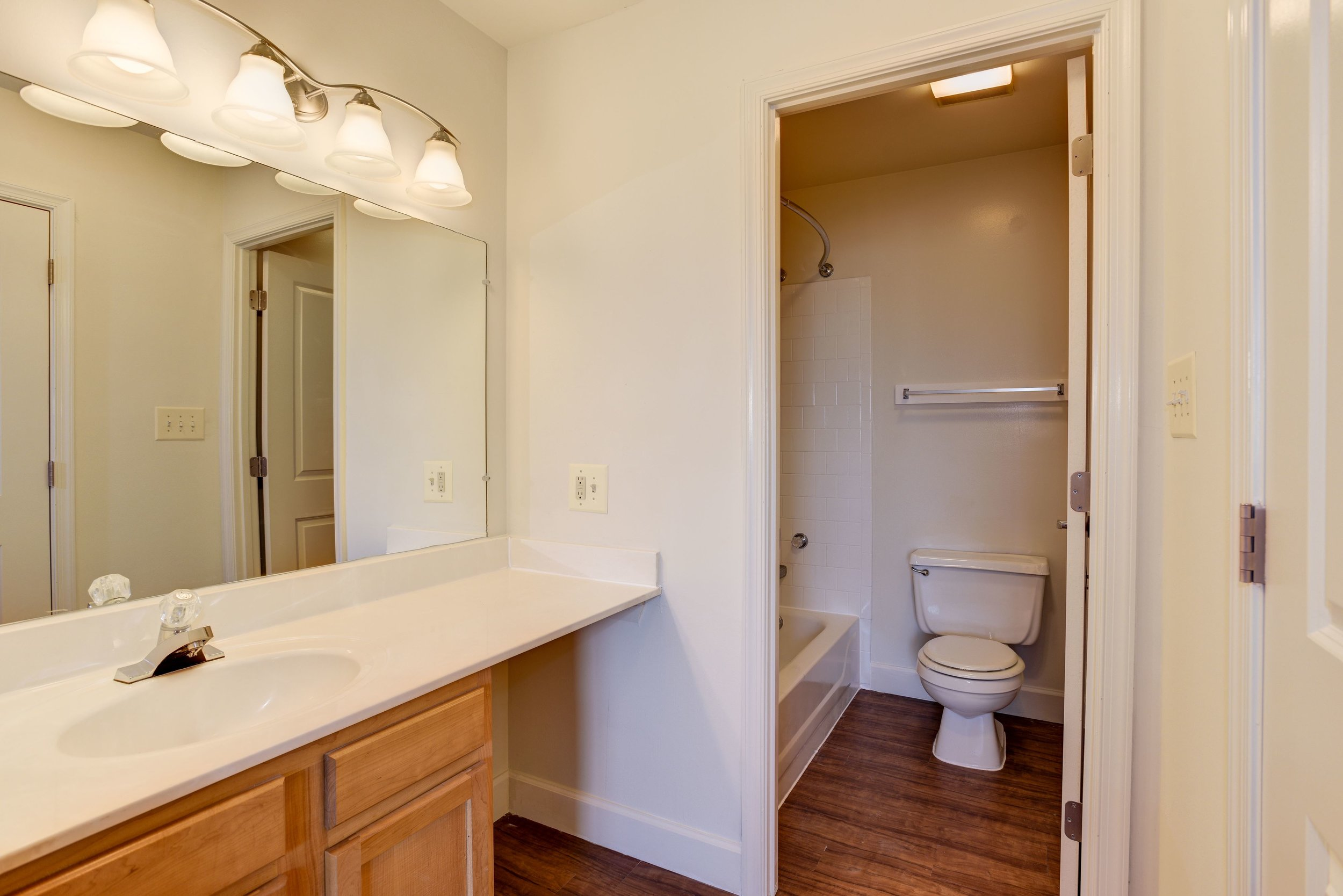 Renovated Dressing Area & Master Bathroom - Fox Run Apartments in Edgewood, MD