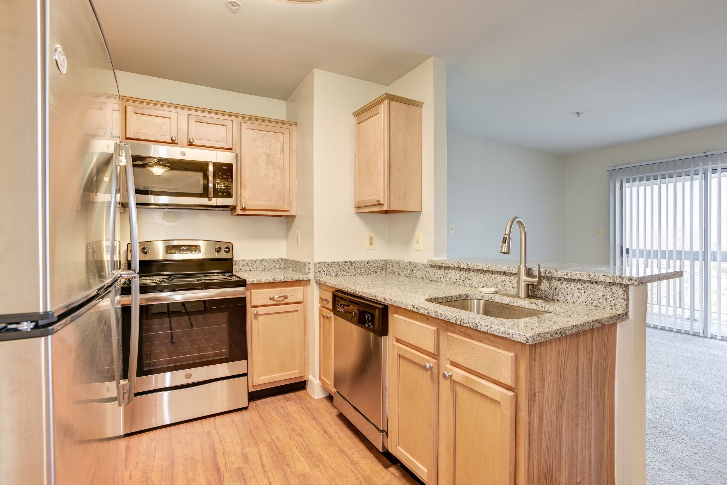 Renovated Kitchen at Fox Run Apartments in Edgewood, MD