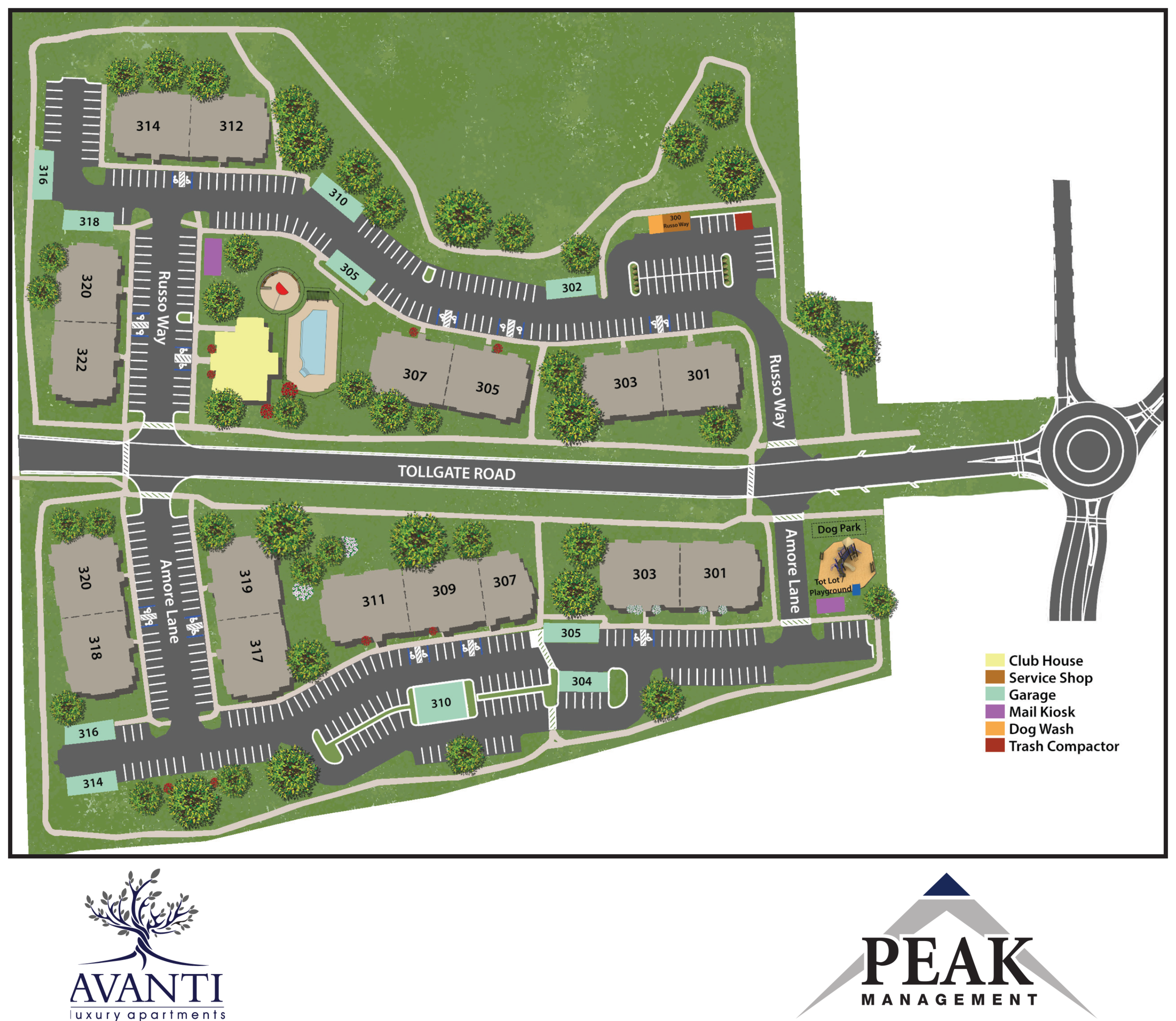 Site Map of Avanti Luxury Apartments in Bel Air, MD