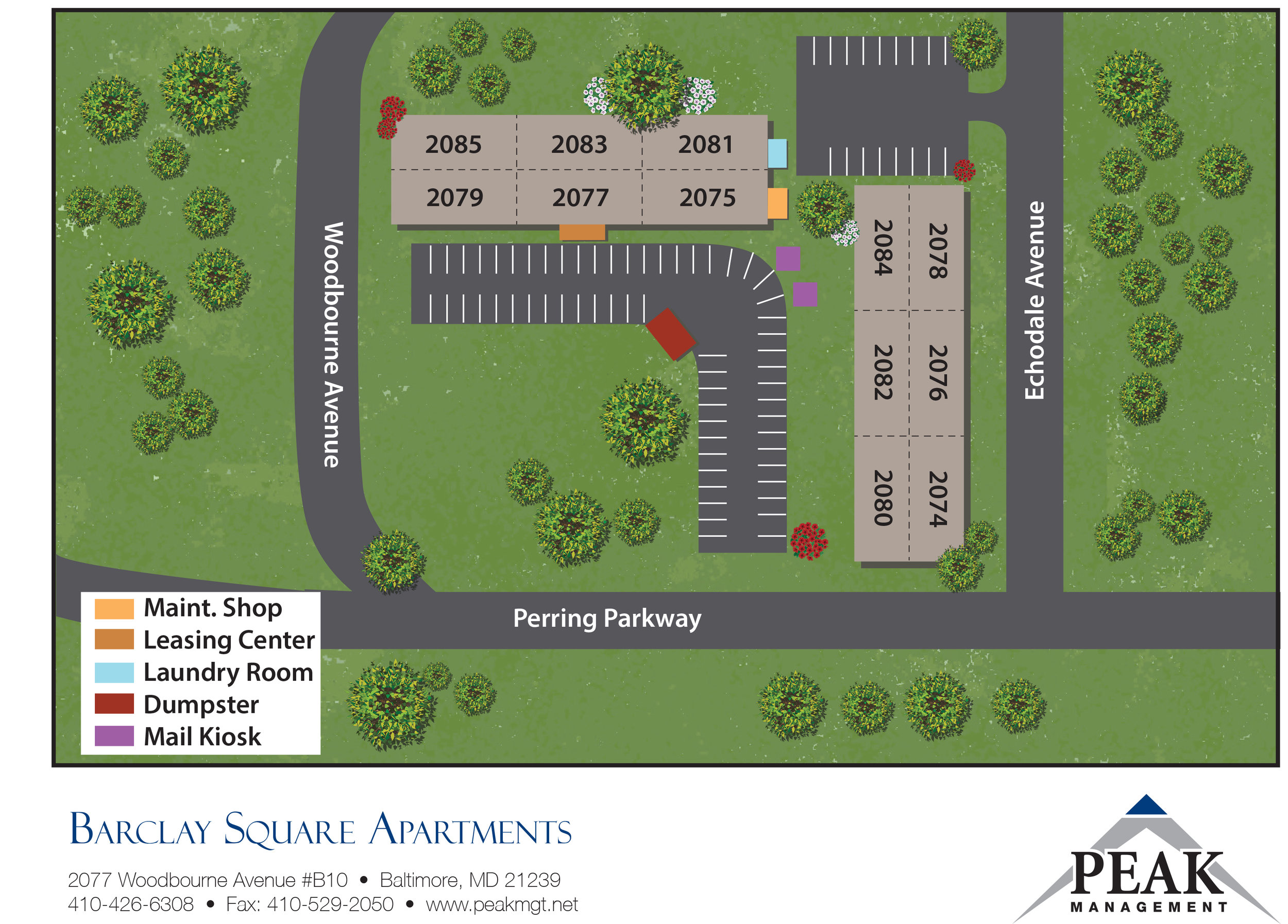 Barclay Square Apartments | Baltimore, MD  - Site Map 1