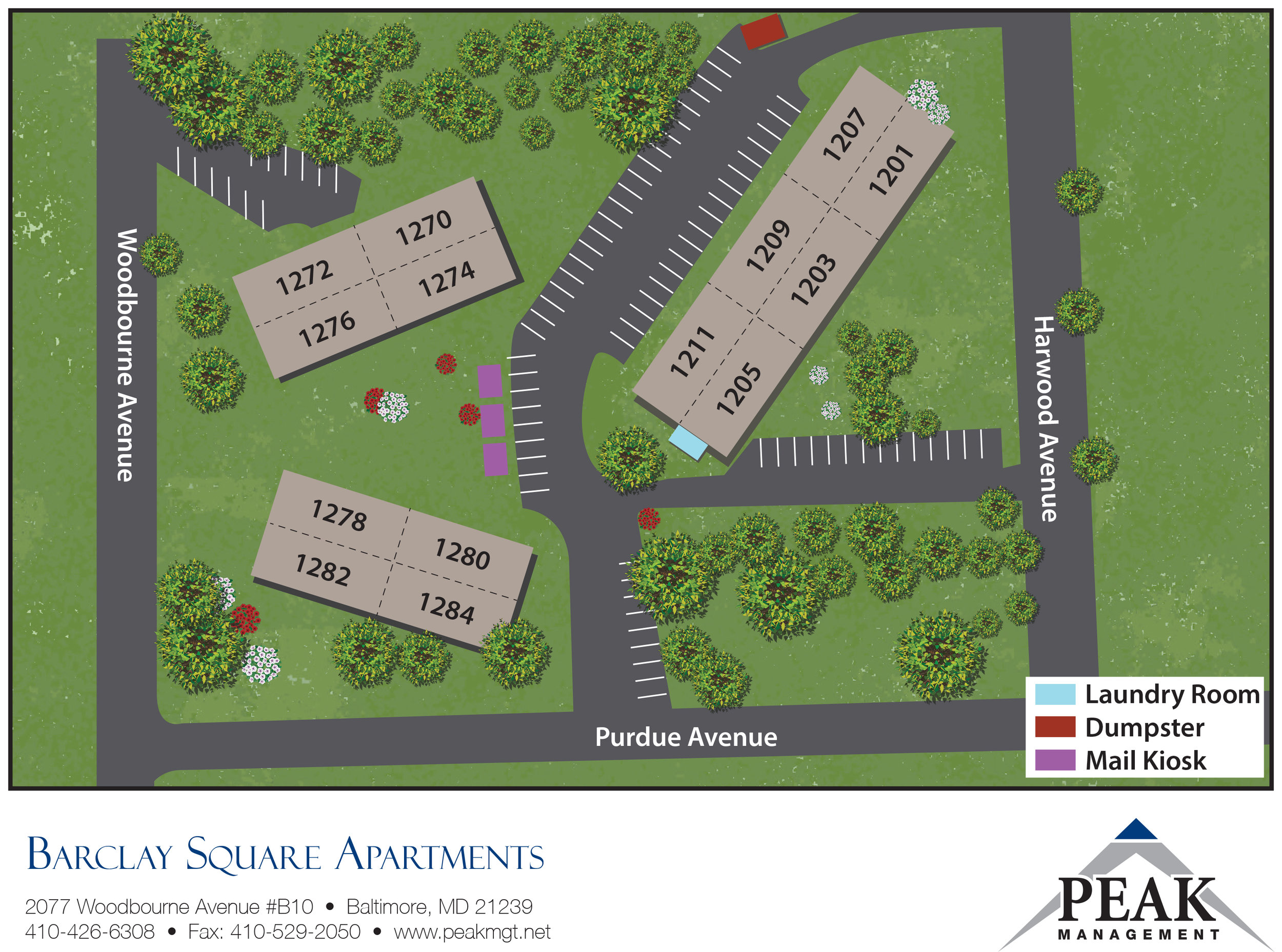 Barclay Square Apartments | Baltimore, MD - Site Map