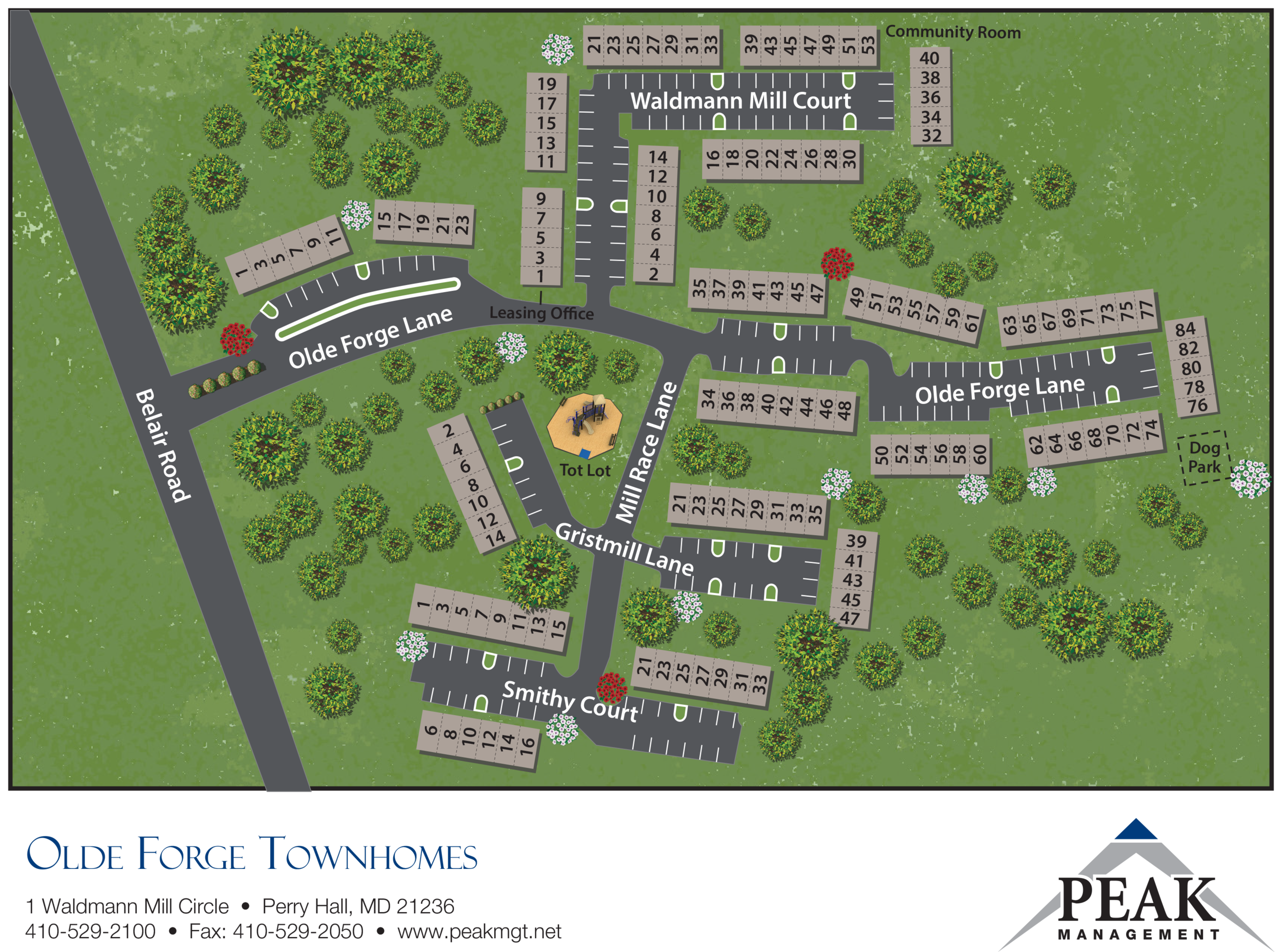 Olde Forge Townhomes - Perry Hall, MD Site Map