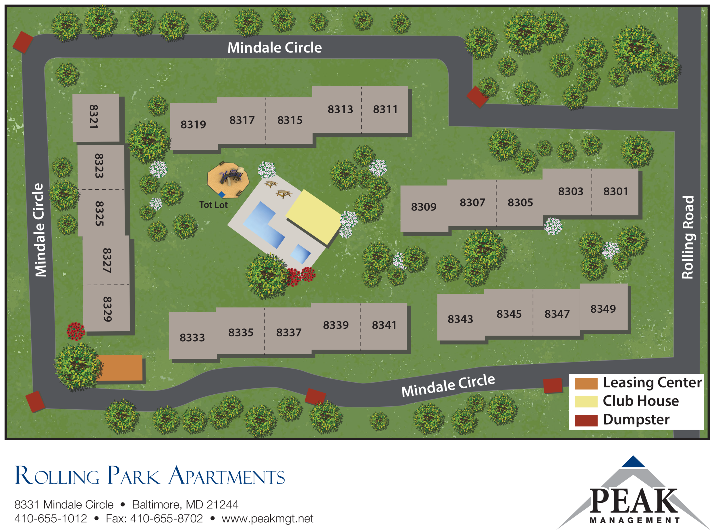 Community Map of Rolling Park Apartments