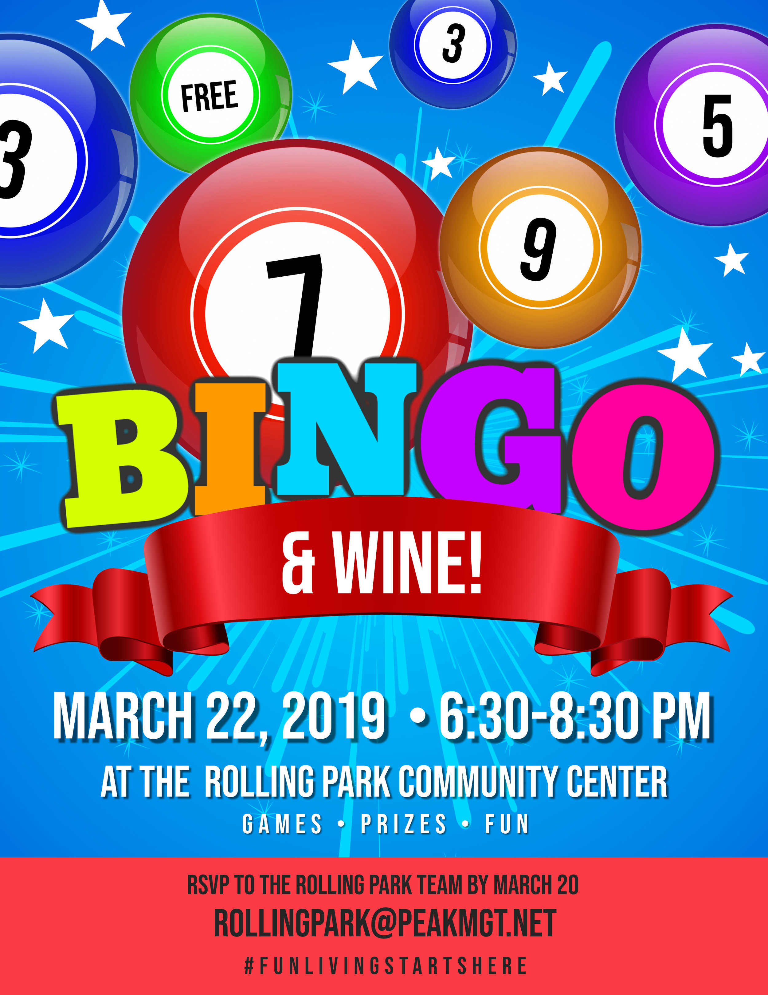 Bingo & Wine at Rolling Park Apartments