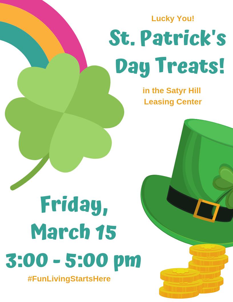 St. Patrick's Day Treats at Satyr Hill Apartments