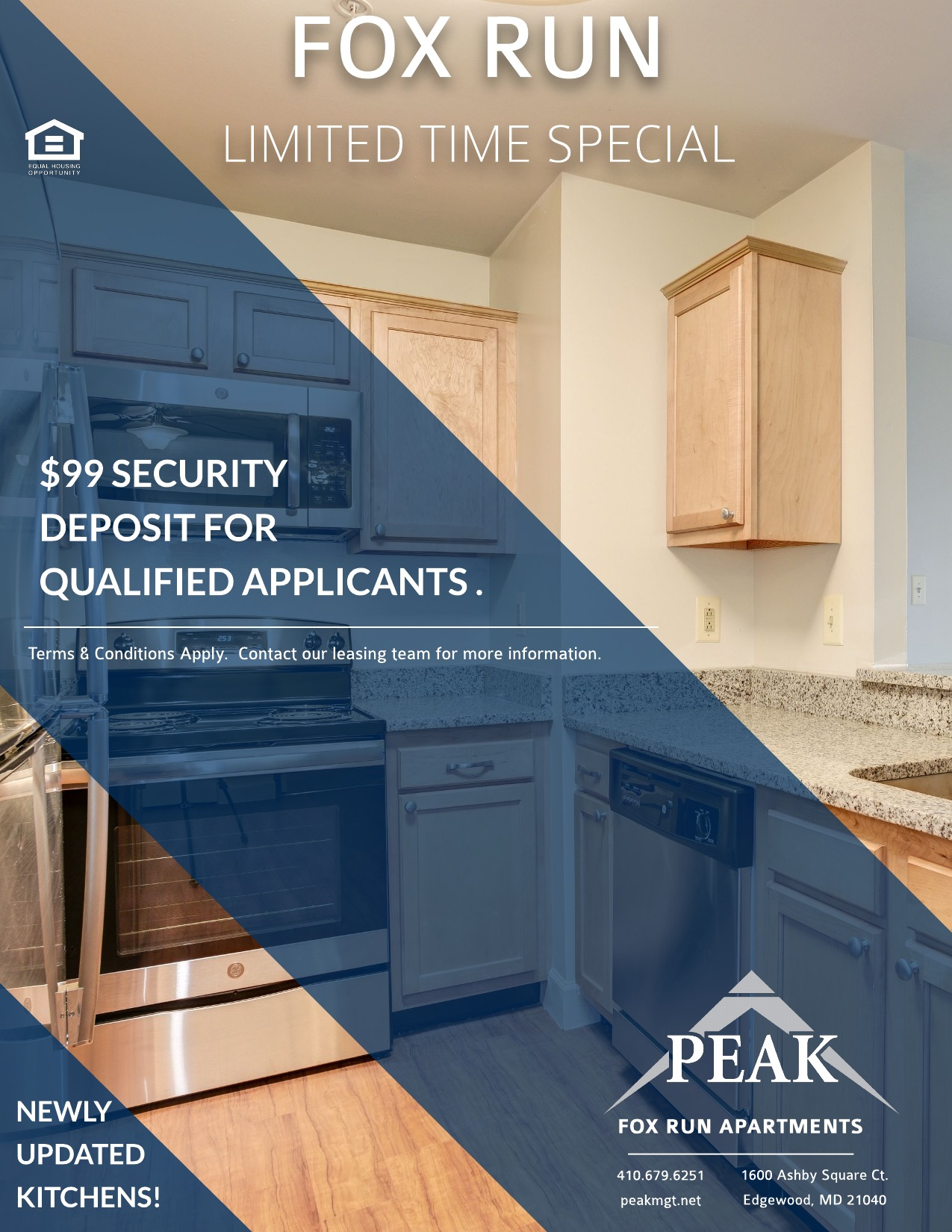 April Rent Special for Fox Run Apartments