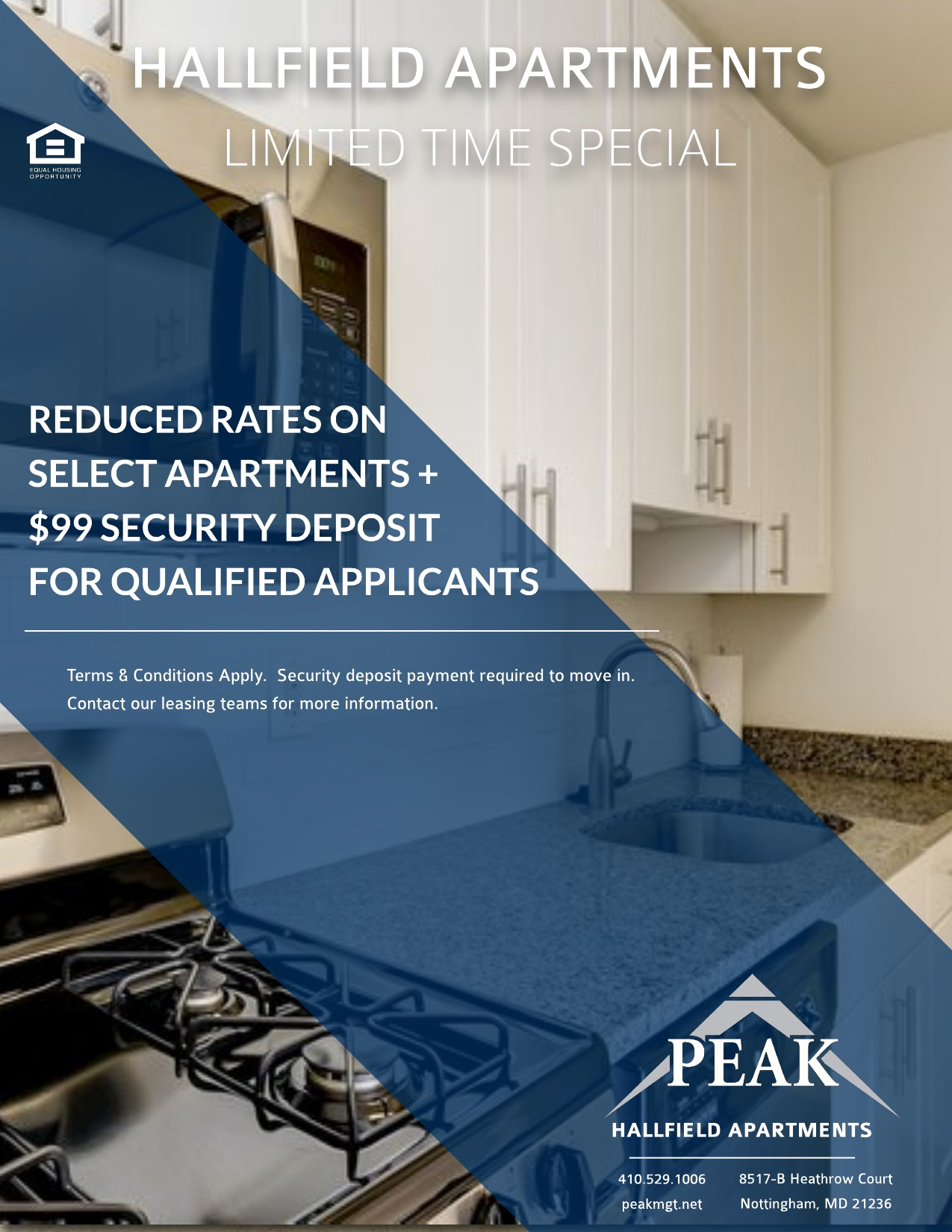 Hallfield Apartments April Rent Special