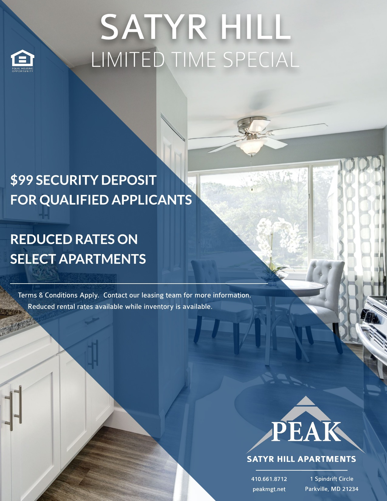 Satyr Hill Apartments in Parkville - April Rent Special