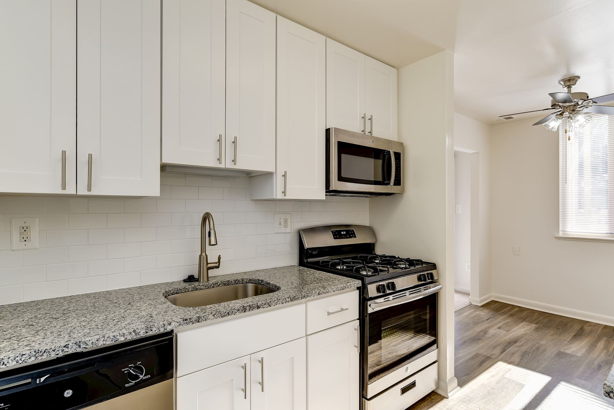 Hallfield Apartments in Perry Hall, MD - Renovated Kitchen