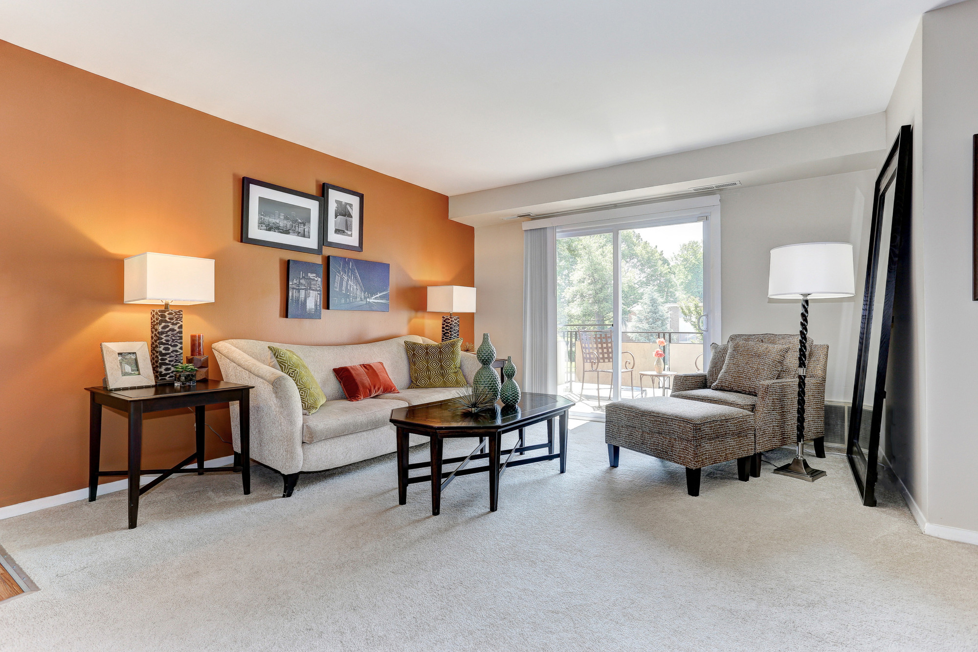 Living Area at Hamilton Springs Apartments in Baltimore, MD