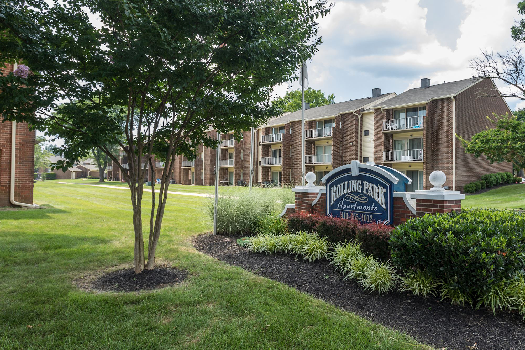 Rolling Park Apartments in Windsor Mill, MD - Community Entrance