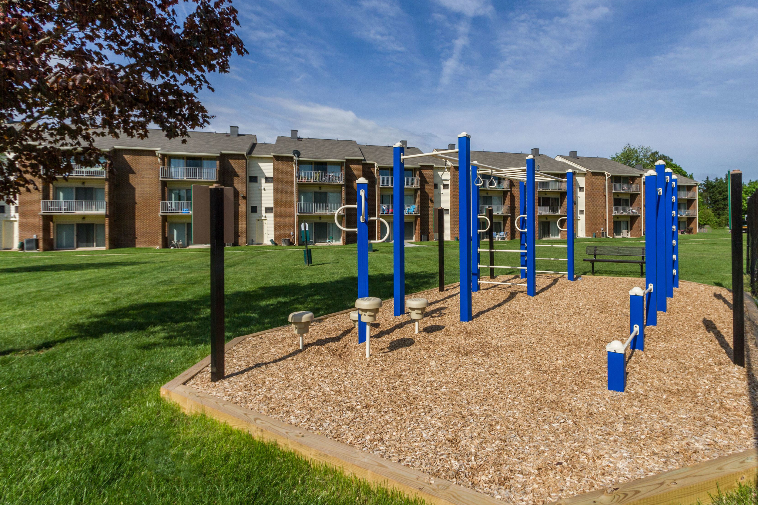 Outdoor Exercise Area at Rolling Park Apartments