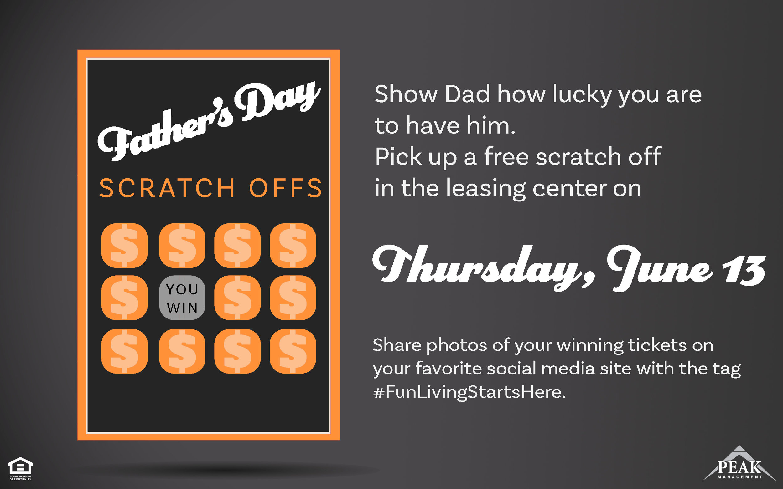 Father's Day Scratch-Offs at Satyr Hill Apartments