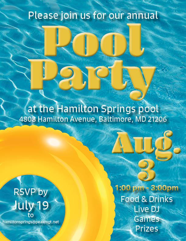 Hamilton Springs Apartments Pool Party