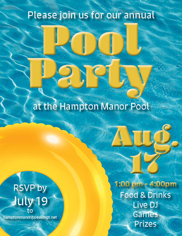 Hampton Manor Apartments & Townhomes Pool Party