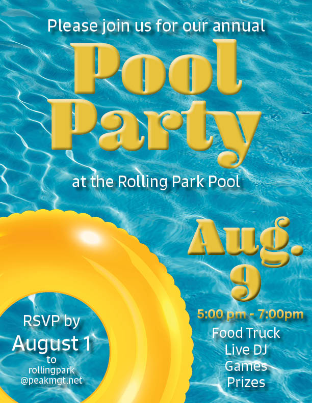 Rolling Park Apartments Pool Party