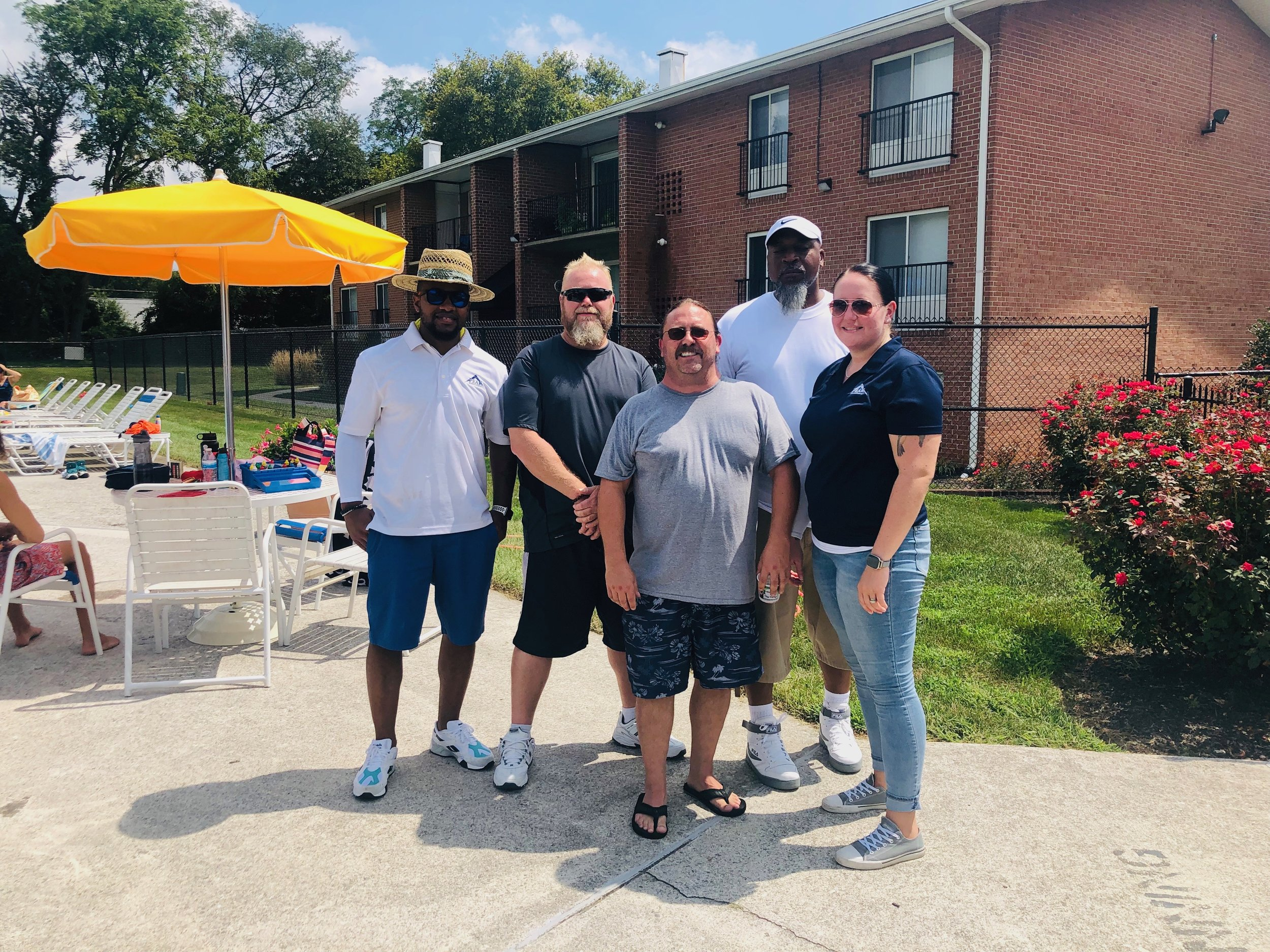 Hampton Manor Leasing Team at the 2019 Pool Party