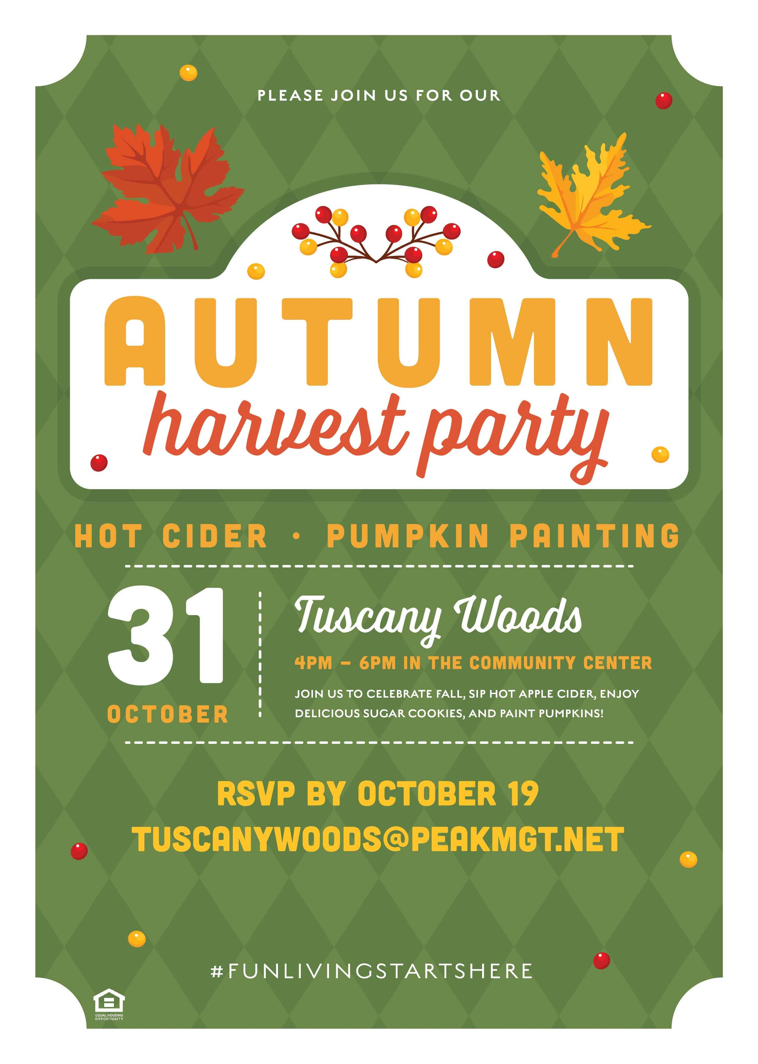 Tuscany Woods Apartments Fall Harvest Festival