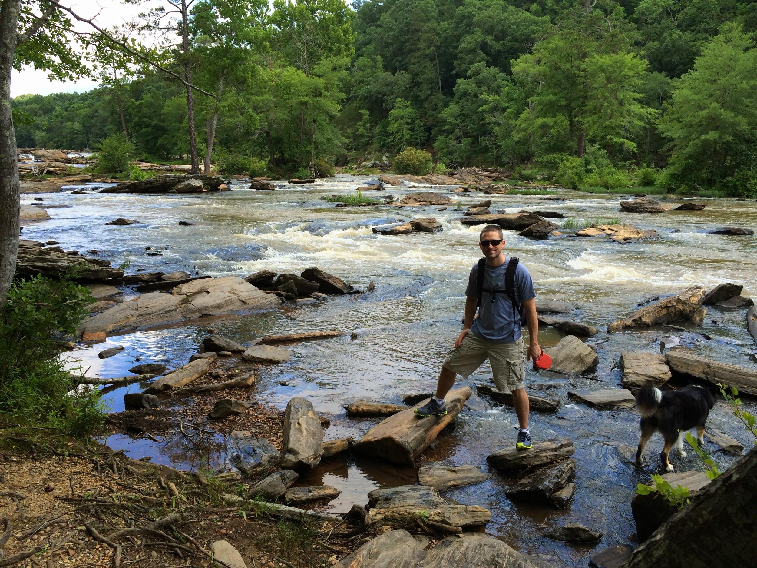 Ben & Lula in the creek
