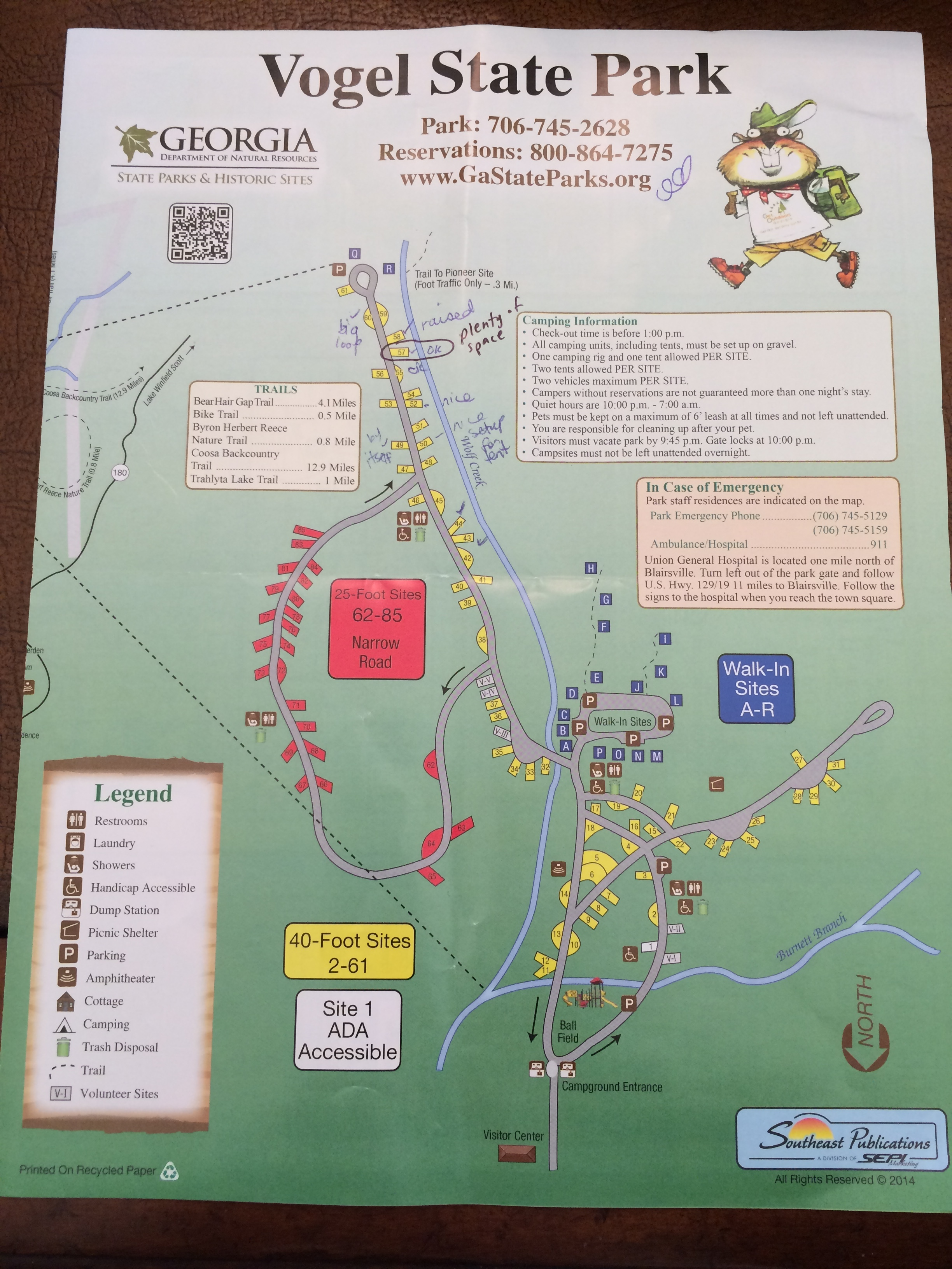 Map with Site Notes