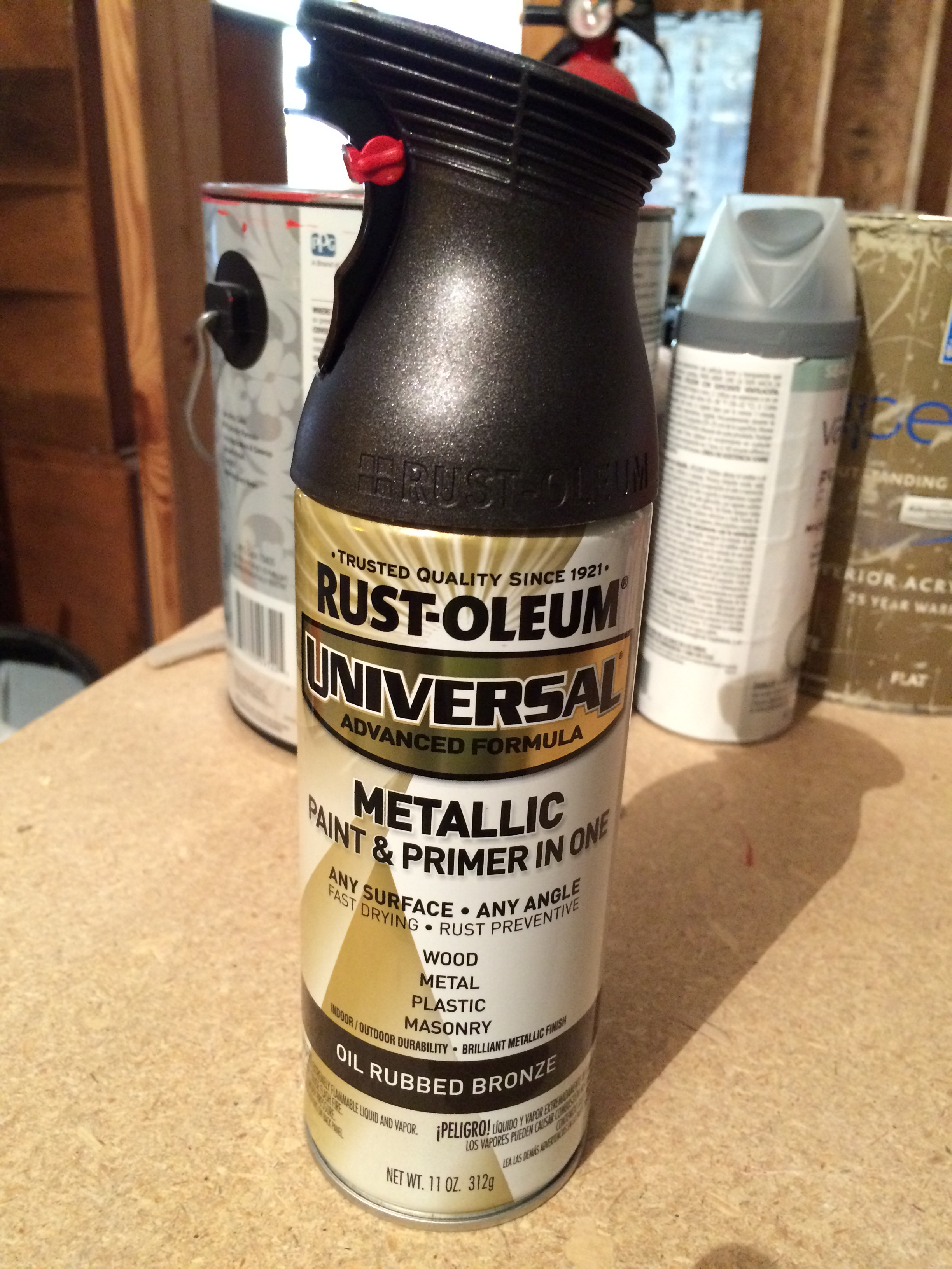 Oil rubbed bronze spray paint by Rustoleum