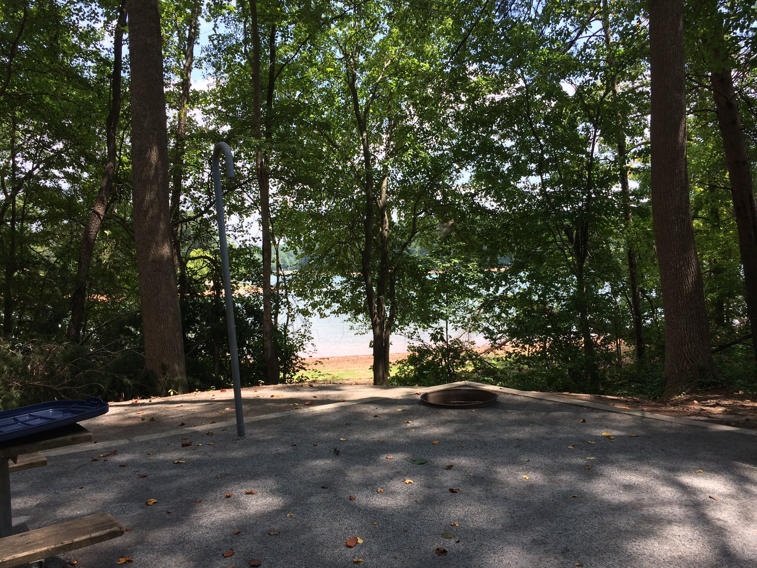 Flat gravel lots with lake access