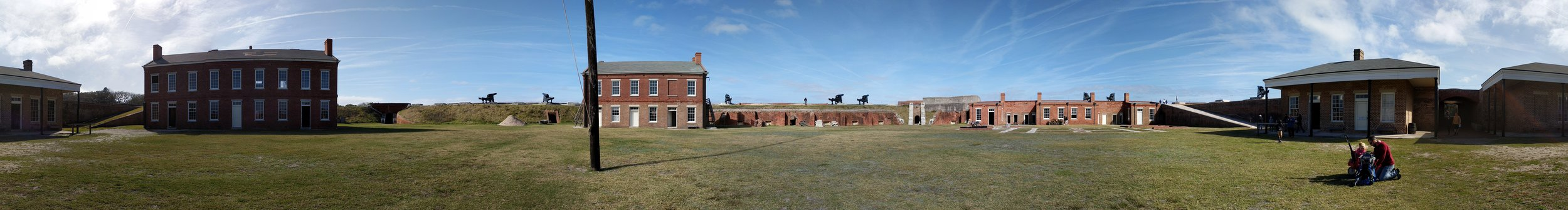 Neat panoramic shot of the inside of Fort Clinch