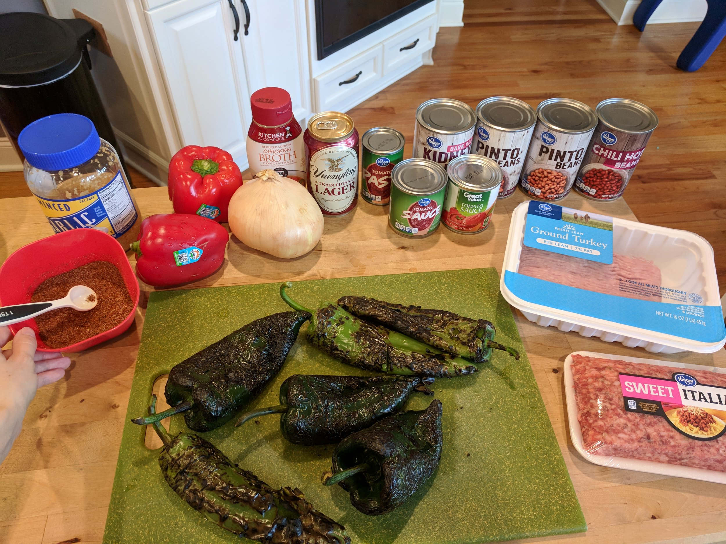 Tons of flavor comes from the variety of ingredients, not pictured is the stew meat