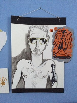Vickers Gringo, Self-Portrait 1  Self-Portrait 2, page background