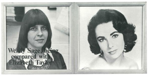 Wendy Sage, being compared  ..., 1973
