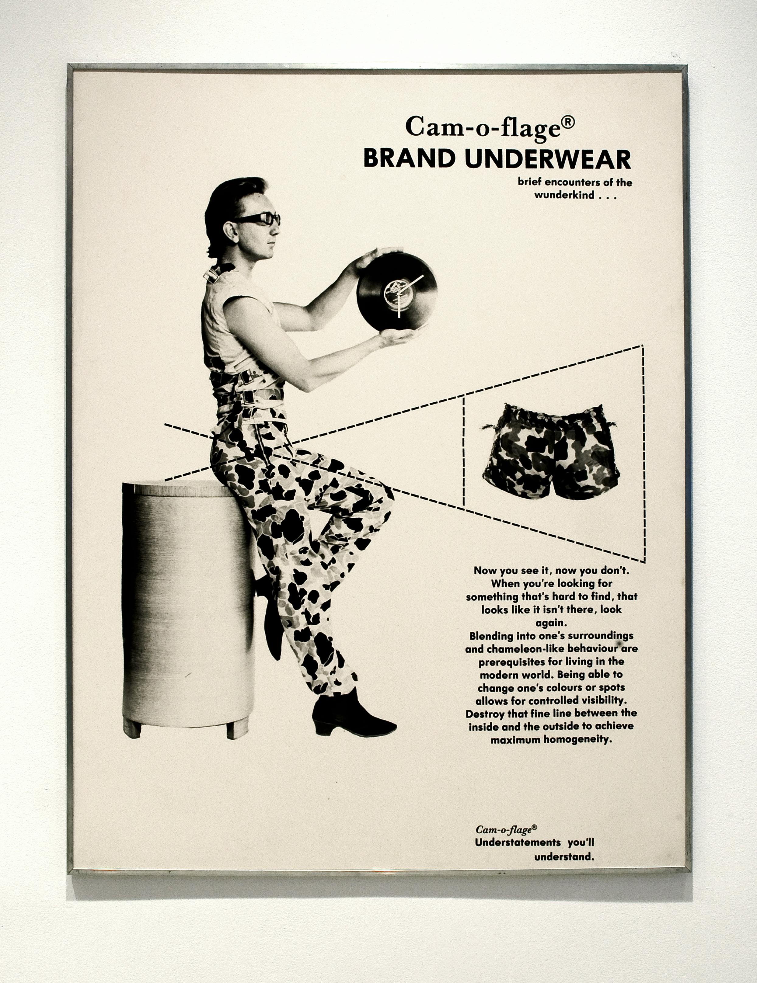 David Buchan,   Modern Fashions Suite:     Cam-o-flage Brand Underwear  , 1977.   Collection University of Lethbridge Art Gallery.