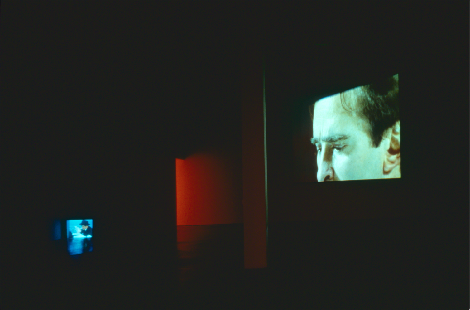Douglas Gordon,  Feature Film , 1999 (installation The Power Plant 2000); photo: Cheryl O'Brien