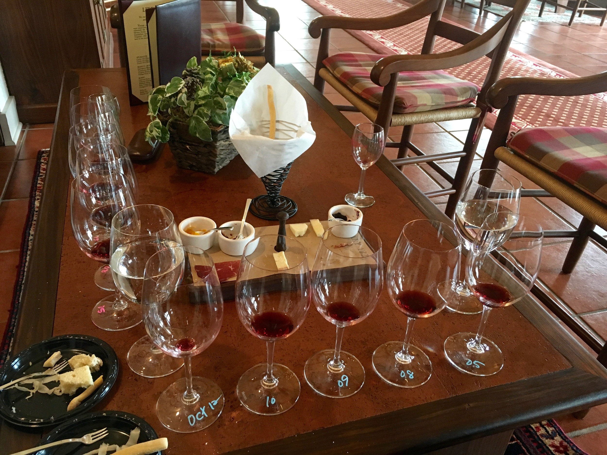 """Our tasting of """"Octagon"""",Barboursville's signature red blend, was stunning."""