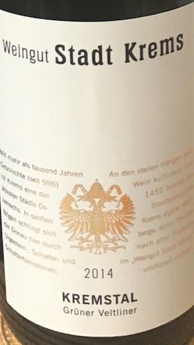 Weingut Stadt Krems Grüner Veltliner Kremstal 2014