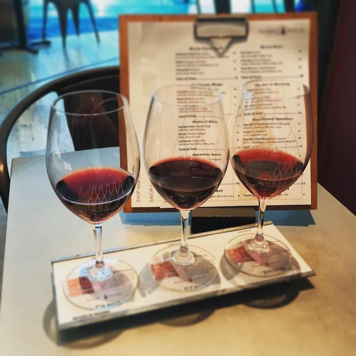 """We love the wine menu structured around """"flights""""."""