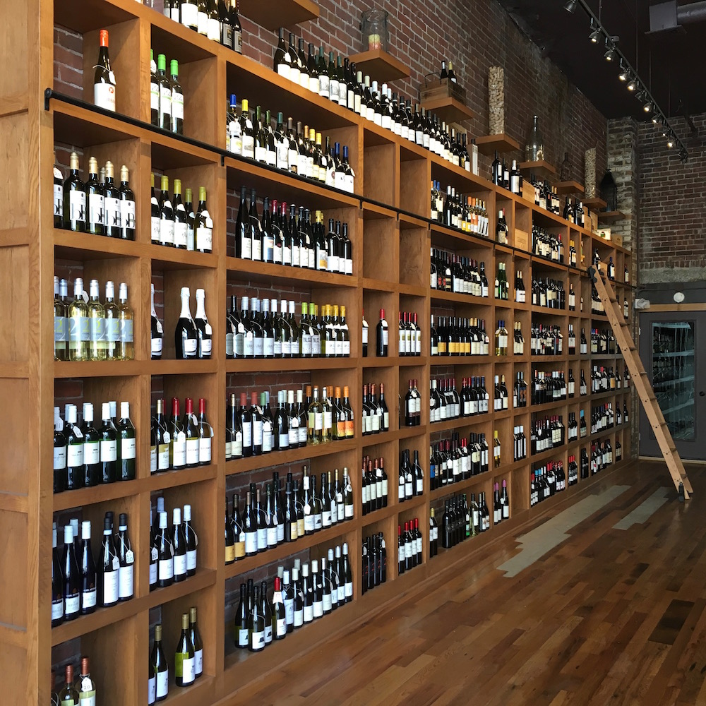 The Crush wine shop in downtown New Bedford, MA is beautifully well done, and worth a visit.