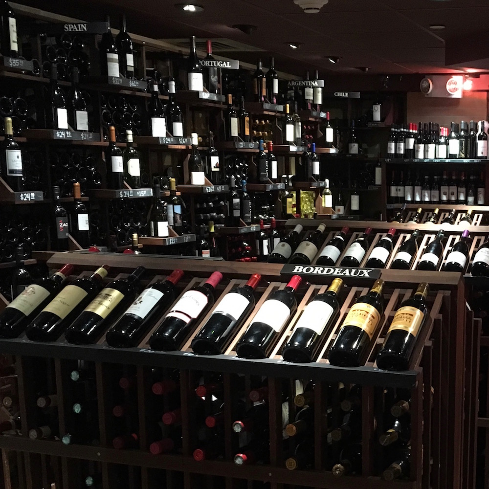 Penn Wine and Spirits inside of New York's Penn Station is a cozy escape from the outside world.