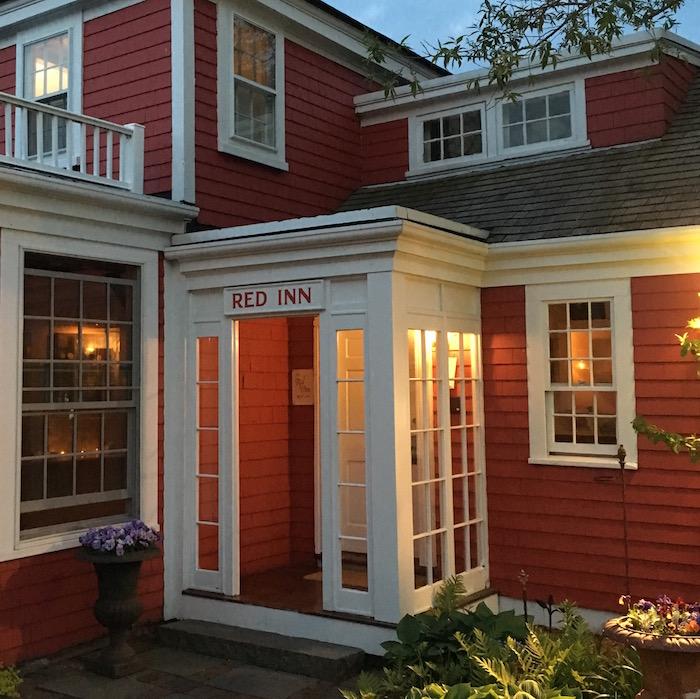 The Red Inn at dusk